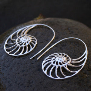 Nautilus Ammonite earrings Sterling Silver Earrings