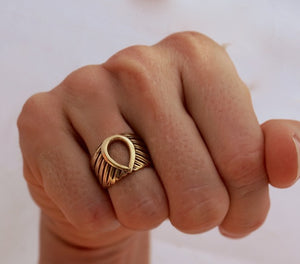 Wing ring - Feather Ring - Bird Ring