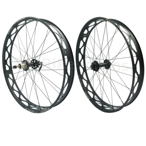 Image of Sun Ringle Mulefut 80SL V2 15x150 TA 10x170 QR Fat Bike Wheelset - TheBikesmiths