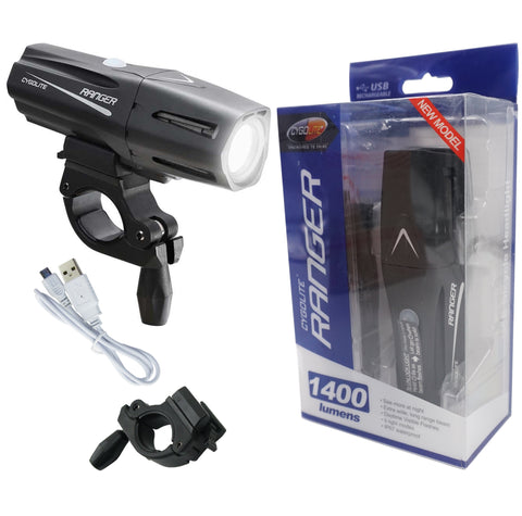 Image of Cygolite Ranger 1400 Lumens USB Rechargeable Headlight - TheBikesmiths