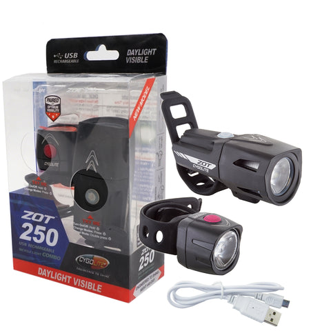 Cygolite Zot 250/Dice 50 USB Rechargeable Light Set - TheBikesmiths