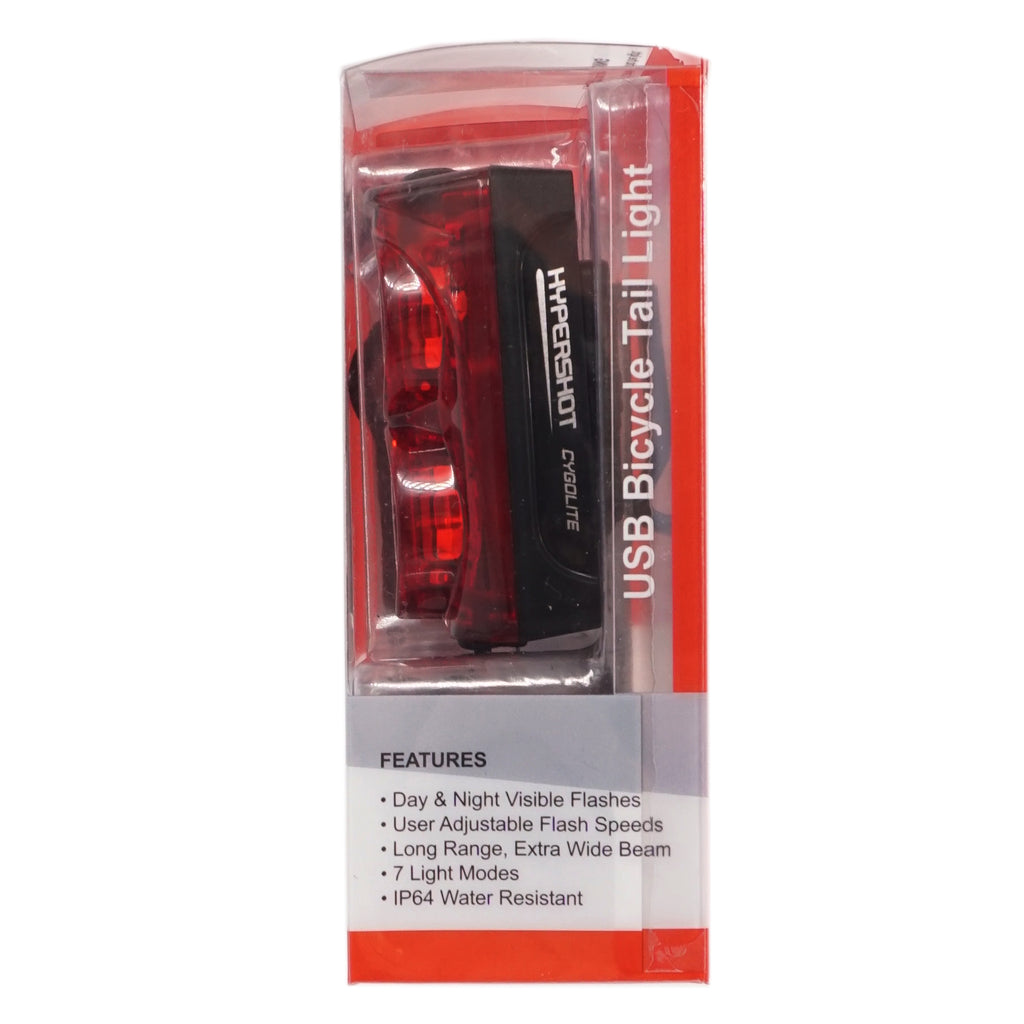 Cygolite Hypershot 250 Lumen USB Tail Light - TheBikesmiths