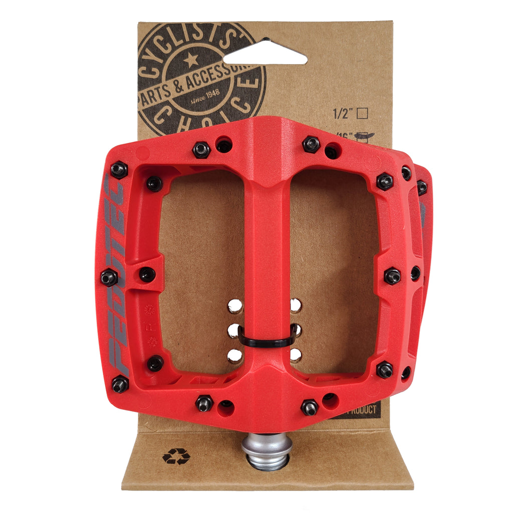 Pedotec Thunder 180 Sealed-Bearings Thermo Large Pro Platform Pedals