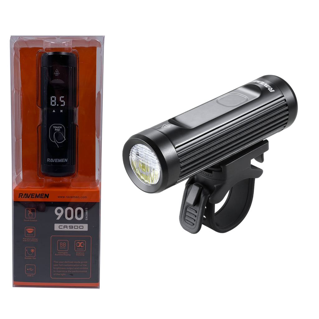 Ravemen CR900 900 Lumen USB Headlight W/ Remote