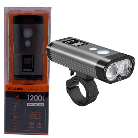 Image of Ravemen PR1200 1200 Lumen USB Dual Headlight w/ Remote Switch