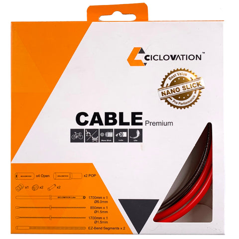 Image of Ciclovation Pro Premium Slick Brake Cable Kit 5mm