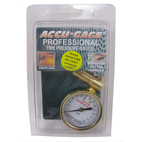 Image of Accu-Gage PR15BX Presta Dial Gauge 1-15psi for Fat Bike - TheBikesmiths