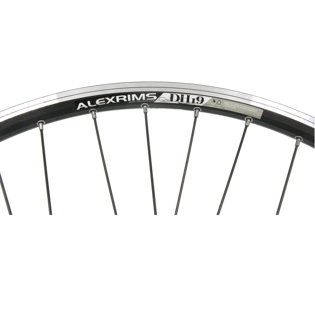 Alex EN24 26-inch BLACK Shimano Cassette Type Rear Wheel - TheBikesmiths