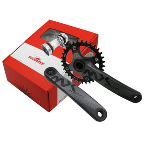 SunRace FC-MX02 32T 175mm 1x Crankset w/ Bottom Bracket