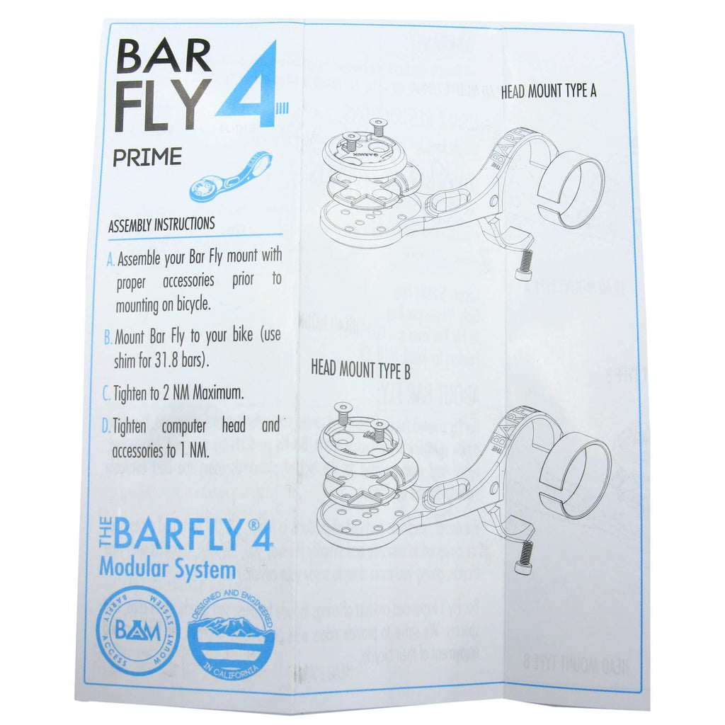 Bar Fly 4 Prime Aluminum Mount System w-Multiple Mounts - TheBikesmiths