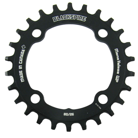Image of Blackspire Snaggletooth Chainring 80mm BCD - TheBikesmiths