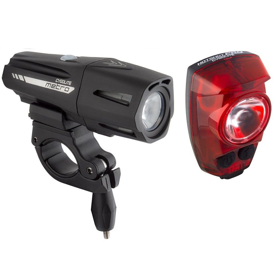 Cygolite Metro Plus 800 Hotshot Pro 150 Rechargeable Light Set - TheBikesmiths