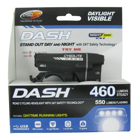 Image of Cygolite Dash 460 Lumens USB Rechargable Bike Front Headlight - TheBikesmiths
