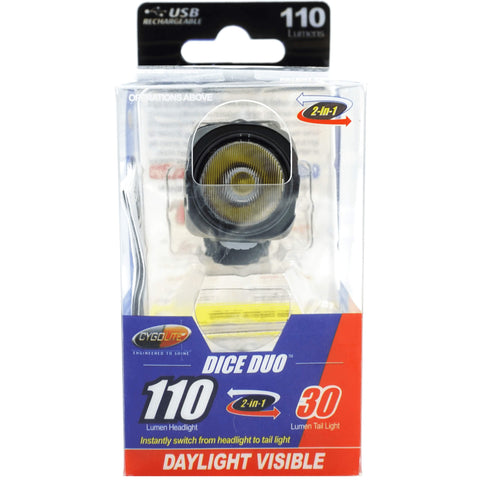 Image of Cygolite Dice Duo Reversable USB Headlight & Tail Light - TheBikesmiths