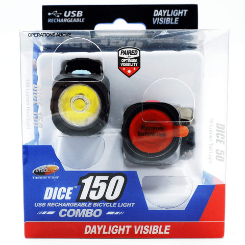 Image of Cygolite Dice Light Set 150 Headlight / 50 Tail Light - TheBikesmiths