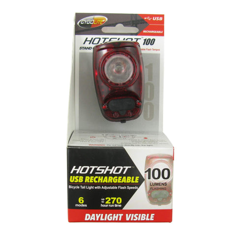 Image of Cygolite Hotshot 100 Lumen Rechargeable Taillight - TheBikesmiths