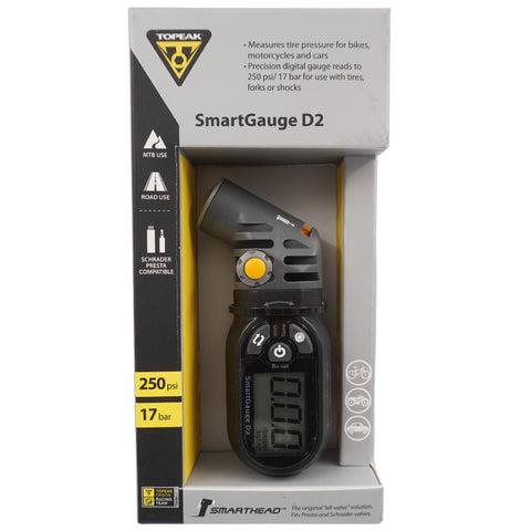 Image of Topeak D2 Digital Smart Gauge Head Tire Pressure TSG-02