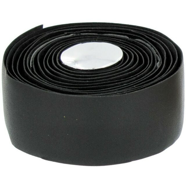 End Zone Black Real Leather Handlebar Tape