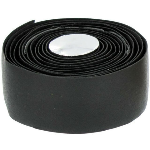 Image of End Zone Black Real Leather Handlebar Tape