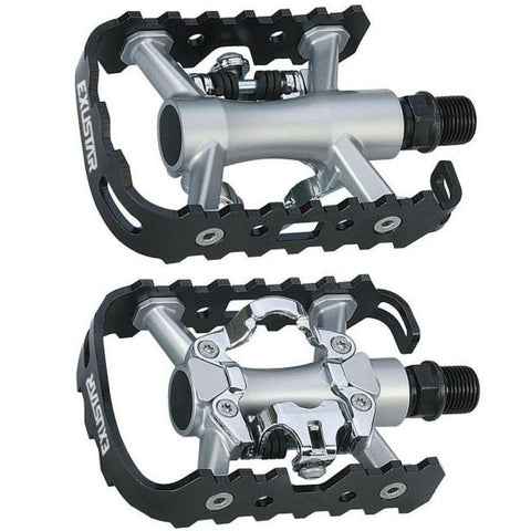 Image of Exustar PM818 SPD Clipless-Platform Pedal - TheBikesmiths