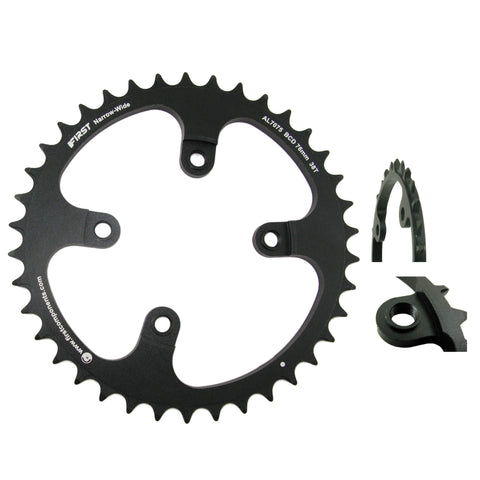 First Components R-MXX Narrow Wide 76mm BCD Chainring - TheBikesmiths