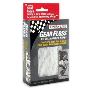 Finish Line Gear Floss 20 Microfiber Rope Cleaner - TheBikesmiths