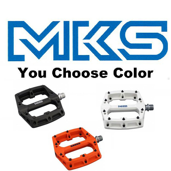 MKS Gauss Resin ATB Pedals W/Pins 9/16""