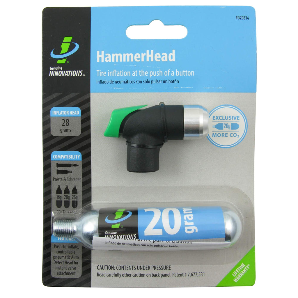 Genuine Innovations G20314 HammerHead CO2 Inflator w-1 20g Cartridge - TheBikesmiths