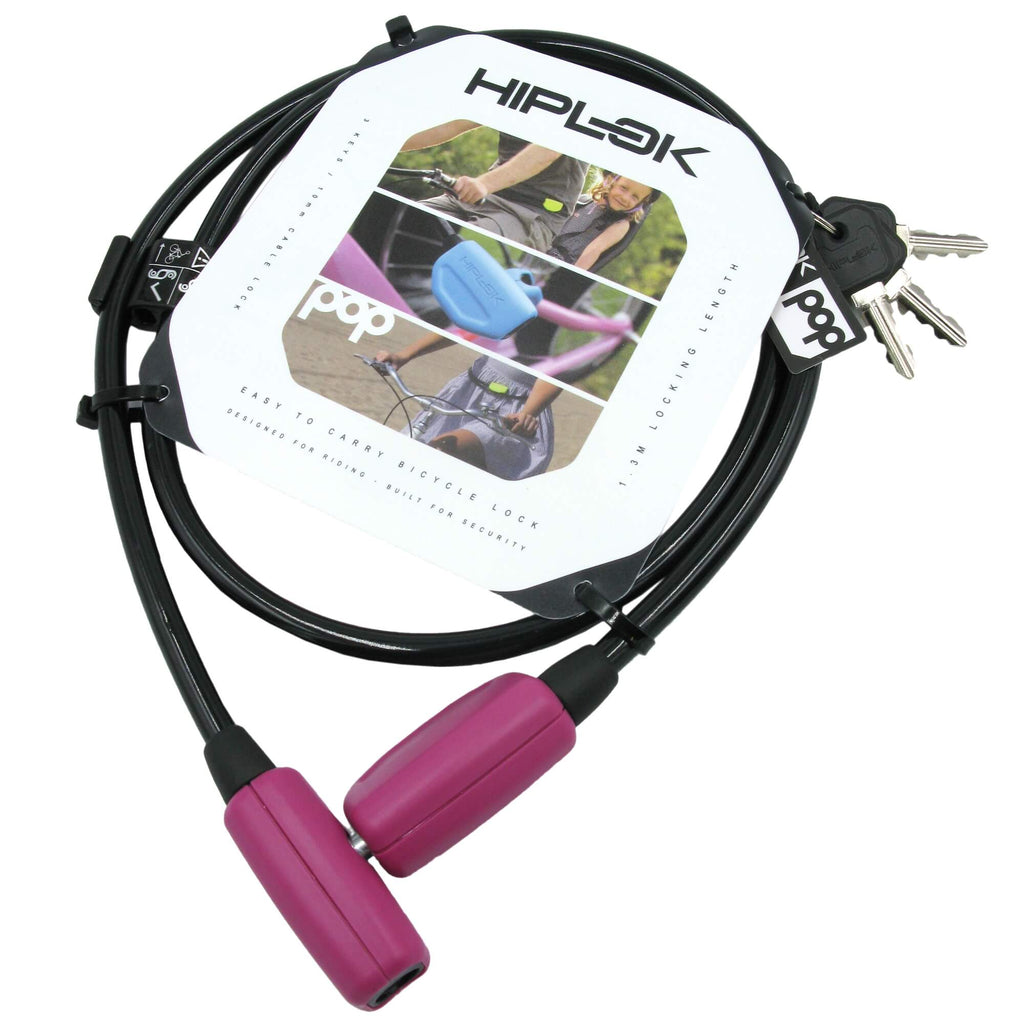 Hiplok Pop 1.3mm x 10mm Wearable Key Cable Lock - TheBikesmiths