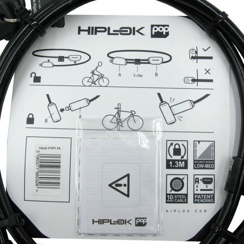 Image of Hiplok Pop 1.3mm x 10mm Wearable Key Cable Lock - TheBikesmiths