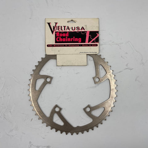 Image of 1999 Vuelta USA Road Chainring 9 Speed 54t Silver 130BCD - TheBikesmiths