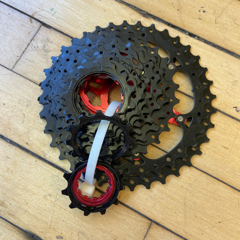 Image of Display Sunrace CSRX 11 Speed Cassette Black 11-36