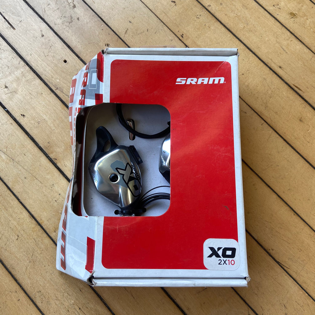 NOS SRAM X0 2x10 Speed Polished Silver Shifters