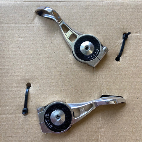 Image of NOS SRAM X0 2x10 Speed Polished Silver Shifters