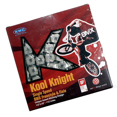"Image of KMC Kool Knight Covered 1/2 Link 1/8"" Chain"