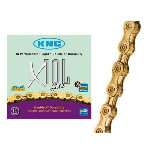 KMC X10L 10 Speed Gold Chain