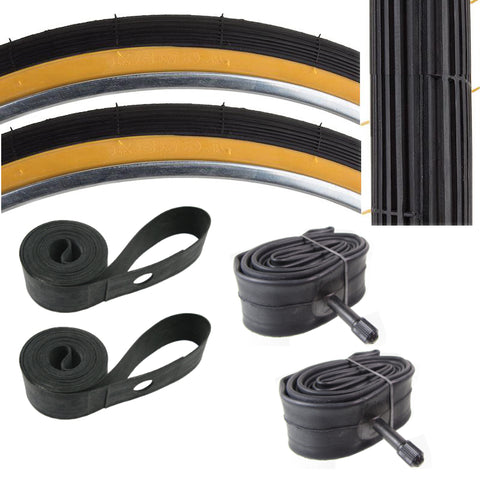 Image of Kenda K23 26x1-1/4x1-3/8 37-597 Schwinn S6 Tire Tube & Strip Kit
