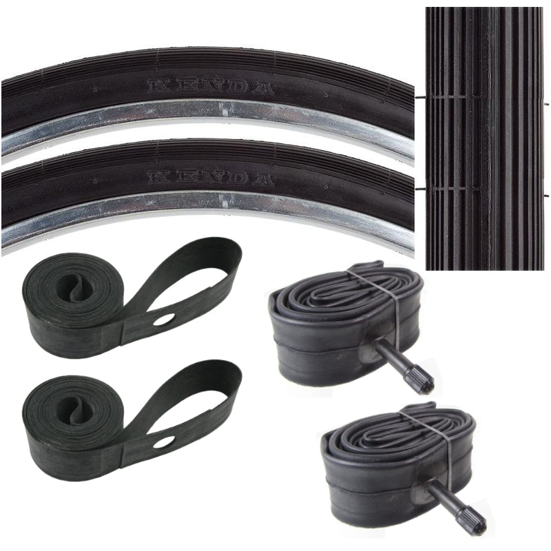 Kenda K23 26x1-1/4x1-3/8 37-597 Schwinn S6 Tire Tube & Strip Kit