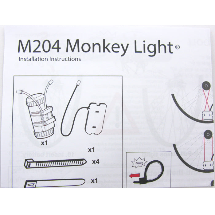 Monkey Light M204 40 Lumen AA Battery Wheel Light