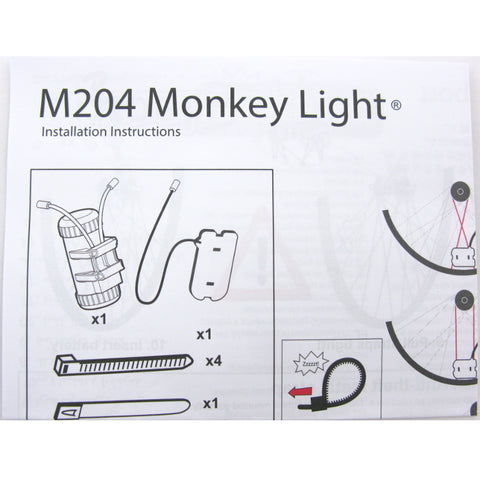 Image of Monkey Light M204 40 Lumen AA Battery Wheel Light