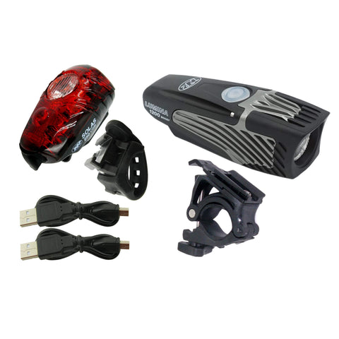 Image of Niterider 6788 Lumina 1200 Boost/Solas 250 Rechargeable Light Set - TheBikesmiths