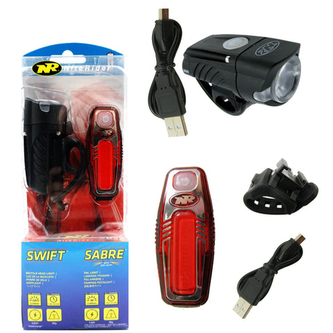 Niterider Swift 300 Sabre 80 Rechargeable Lightset - TheBikesmiths