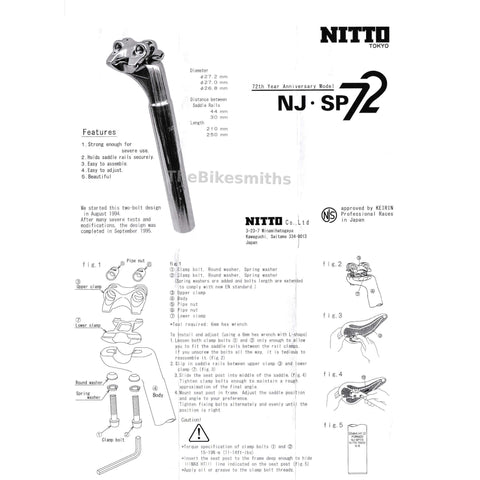 Image of Nitto NJ-SP72 Jaguar Seatpost - TheBikesmiths