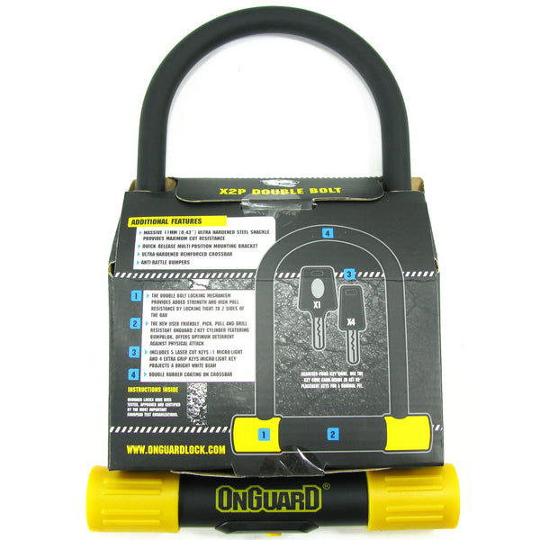 OnGuard 8010LM Lean & Mean 115mm x 230mm Key U-Lock