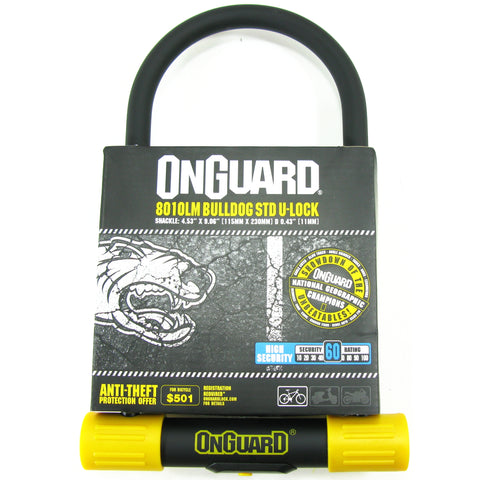 OnGuard 8010LM Lean & Mean 115mm x 230mm Key U-Lock - TheBikesmiths