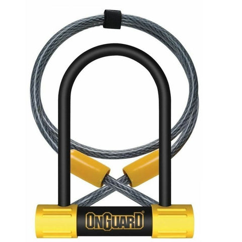 OnGuard 8015 Bulldog Mini 90mm x 140mm Key U-Lock w-4' Cable - TheBikesmiths