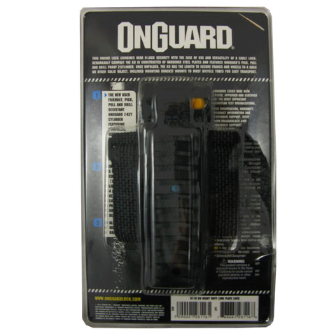 OnGuard 8116 K-9 69cm Key Link Plate Lock - TheBikesmiths