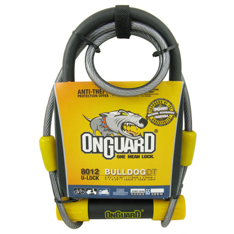 "Image of OnGuard 8012 Bulldog 4.5 x 9"" U-Lock with 4' Cable - TheBikesmiths"