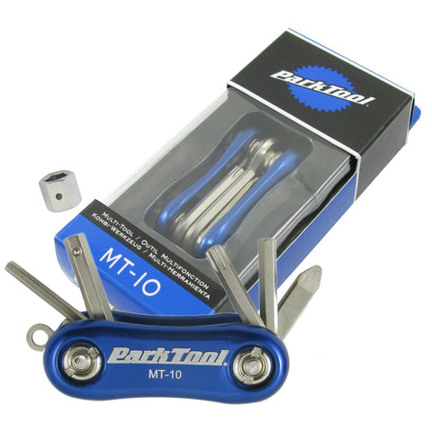 Image of Park Tool MT-10 Multi-Tool 3,4,5,8-Hex T25 Drivers w/Keyring - TheBikesmiths
