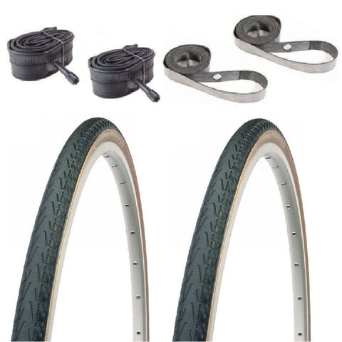 Image of Panaracer Pasela 27-inch tire Kit with Tubes and Rim Strips